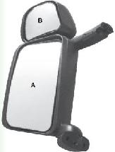 00003556 - Tükör Scania Balo.elekt. fűt. 215x215
