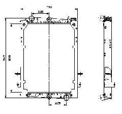 00000963 - Vízhűtő Daf CF 215x215