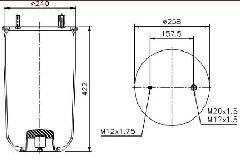 00011927 - Légrugó BPW félkomplett 215x215